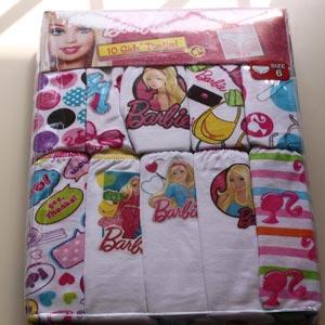 Barbie pattern children s underwear 4 year old 6 year old 100 size 120