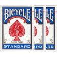 【メール便送料無料】夏休みセールBICYCLE(バイスクルトランプ) 808 ライダーバック STANDARD トランプ ポーカーサイズ 青 3デックシュリンクパック05P04Jul15