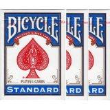 【メール便】BICYCLE(バイスクルトランプ) 808 ライダーバック STANDARD トランプ ポーカーサイズ 青 3デックシュリンクパック