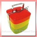 【picnic box】ピクニックボックス3段カラフル スクエアボックス RAINBOW