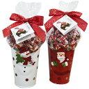 【Gudrun ガドラン】Holiday Bucket X'masホリデーバケツクリスマスバケツ入りチョコレート 454gベルギーチョコレートトリュフ【レッド・サンタ/ホワイト・スノーマン/ブルー・スノーマン/ホワイト・ペンギン】