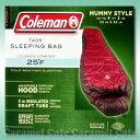 【Coleman コールマン】★大人用寝袋(マミー型) 赤 -3.9度まで対応★sleeping bag Mummy Style