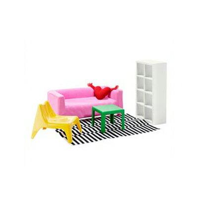 HUSET (フーセット) ミニチュア家具 リビングルーム