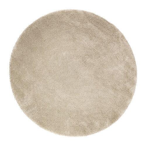 【IKEAイケア】ADUM 円形 ラグ パイル長 195cm 【オフホワイト】05P04Jul15 【ラッキーシール対応】の写真