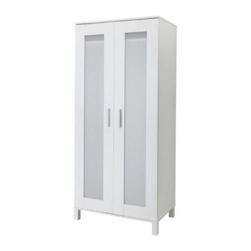 【キャッシュレス還元P9】【IKEAイケア】ANEBODA ワードローブ 81x180cm【ホワイト】 【ラッキーシール対応】