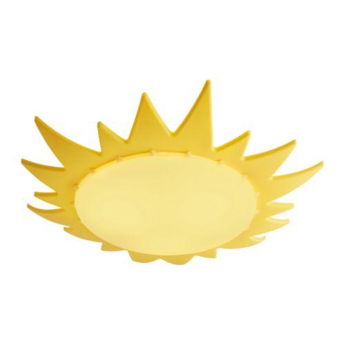 夏休みセール【IKEAイケア】SMILA SOLシーリングランプ 【サニー・太陽 黄色】照明子供部屋インテリア05P04Jul15