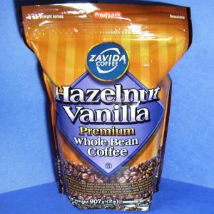 ヘーゼルナッツバニラフレーバーコーヒー豆907gカナダ産ザビダzavida