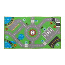 RoomClip商品情報 - IKEA STORABO ラグ グリーン 75x133 cm キッズプレイマット トミカ プラレール