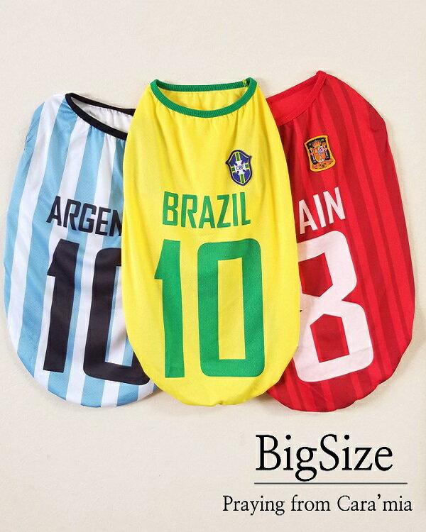 ●サッカーTシャツ●【大型犬用】大型犬 服/ラブ...の商品画像