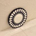モザイクミラー 壁掛け ミラー 鏡 ウォールミラー ブルー 20cm アジアン バリ インテリア