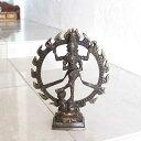 シヴァ ダンシングシヴァ 真鍮 置物 オブジェ H22cm バリ アジアン 神様 オブジェ