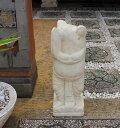 カエル 石像 カービングストーン ガーデン置物 60cm アジアンガーデン バリ風 エクステリア