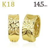 K18铁环耳环(Pierre指环)(14.5mm)(ej0024k)[K18フープイヤリング(ピアリング)(14.5mm)(ej0024k)]
