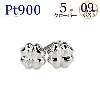 PT clover Platinum earrings (made of 0.9 mm core, Japan) (scvpt9)