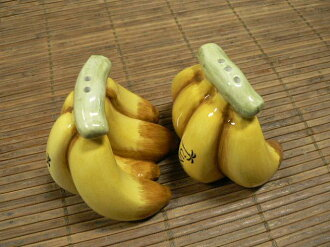"Hawaiian ""put banana ( bunch ) design & salt and pepper pepper & salt"""