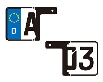 Euro license ダミーユーロ license plate KIT-quick easy to European car atmosphere!