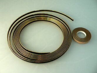 Lacing braid 7mm width gold (4m winding) for motorcycles