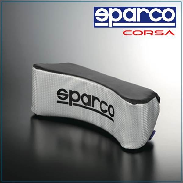Sparco, SPARCO CORSA & neck pillow silver carbon / black SPC4000
