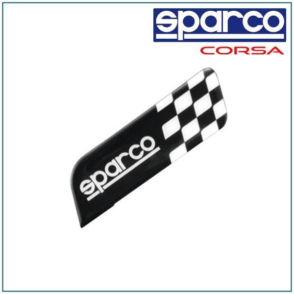 Sparco, SPARCO CORSA & square emblem SQUARES/BLACK SPC4201