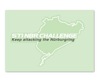 STI sticker LABEL NBR CHALLENGE B (white)