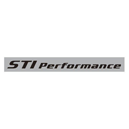 STIPerformance sticker (black) STSG10100381