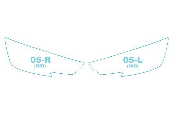 ヘッドライトプロテクションフィルムアウディA4AvantB9型(8WCVN/8WCVK/8WCYRF