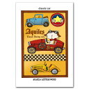 しろねこBOUの日常・猫のポストカード「classiccar」