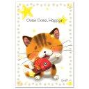 笑顔を届けるイラストレーション・猫作家Megポストカード「しあわせこいこい」