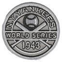 【ニューヨーク ヤンキース】 1943ワールドシリーズ優勝記念ロゴパッチ (New York Yankees) (MLB) (メジャーリーグベースボール) (World Series)