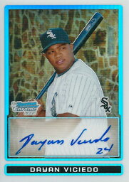 <strong>ダヤン・ビシエド</strong> MLBカード Dayan Viciedo 2009 Bowman Chrome Prospects Autographs Refractors 400/500