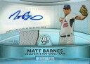 マット・バーンズ MLBカード Matt Barnes 2010 Bowman Platinum Relic Autographs Refractors 680/740