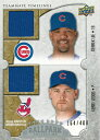 【デレク・リー】【ケリー・ウッド】 MLBカード Derrek Lee / Kerry Wood 2009 UD Ballpark Collection Dual Swatch 164/400