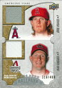 【ジェレッド・ウィーバー】【マックス・シャーザー】 MLBカード Jared Weaver / Max Scherzer 2009 UD Ballpark Collection Dual Swatch 310/400
