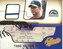 トッド・ヘルトン MLBカード Todd Helton 2002 Fleer Authentix Jersey AuthenTIX