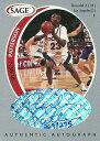 ルーベン・パターソン NBAカード Ruben Patterson 1998 Sage Autographs Silver 269/275