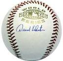 デビッド エクスタイン 2006 ワールドシリーズ オーセンティック 直筆サインボール David Eckstein