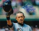"""イチロー 3000本安打記念 直筆サインフォト ヘルメット 8x10 """"3000""""入り (Ichiro Signed '3000 Hit Helmet' 8x10 Photo w/ """"3000"""" Insc)"""