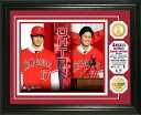 The Highland Mint (ハイランドミント) 大谷翔平 ロサンゼルス・エンゼルス 入団会見フォトプラーク ダブルコイン (Shohei Ohtani Angels Press Conference Bronze 2 Coin Photo Mint)