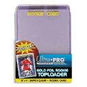 ウルトラプロ(UltraPro) トップローダー ルーキーカード (ゴールド) 25枚入りパック (#81180) 3x4 Toploader Rookie with Gold Print Pack