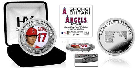 The Highland Mint (ハイランドミント) 大谷翔平 ロサンゼルス・エンゼルス シルバーコイン (Shohei Ohtani Silver Mint Color Coin) 3/5再入荷!