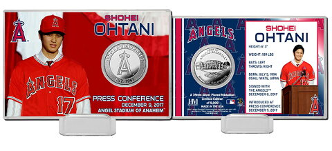 The Highland Mint (ハイランドミント) 大谷翔平 ロサンゼルス・エンゼルス シルバーコインカード (Shohei Ohtani Angels Press Conference Silver Coin Card) 2/2再入荷