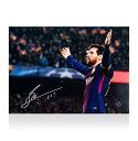 リオネル メッシ 直筆サインフォト FC バルセロナ UEFA チャンピオンズリーグ 100ゴール (Lionel Messi Official Signed FC Barcelona Photo: 100th UEFA Champions League Goal) 12/19再入荷