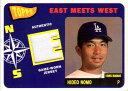 野茂英雄 2002 Topps East Meets West Jersey Card Hideo Nomo