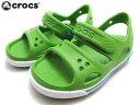 送料無料crocs crocband 2 sandal ps クロックス クロックバンド 2 サンダル psparrot green/ocean パロット グリーン・オーシャ…