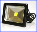 LED投光器 200W相当 20W 白色 広角ライト IP65屋外防水13000lux 看板灯 集魚灯 作業灯 家庭用コンセント TG01-20W【送料込】