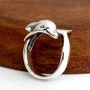 ハワイアンジュエリー イルカ ドルフィンリング リング 指輪 ポリネシア メンズ レディース シルバー925 シルバーリング アクセサリー プレゼント ギフト お守り 誕生日 記念日