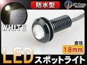 小玉 LED スポットライト 白 3W級 埋込 ボルト 防水 LEDを自由に演出 【CAROZE】