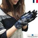 【SALE】Vincent Pradier カモフラージュ柄 グローブ 手袋 レディース スマートフォン対応 迷彩