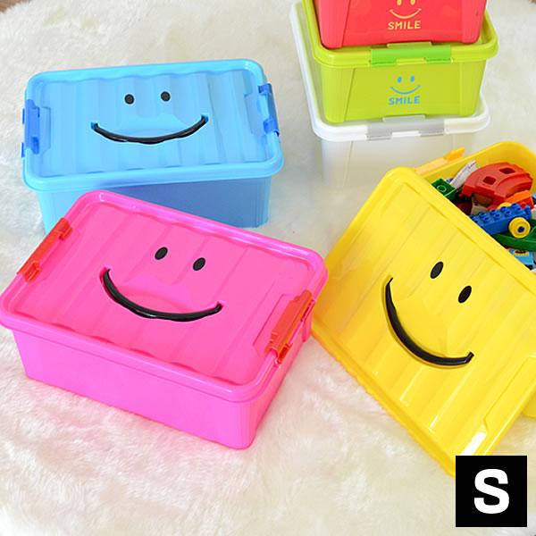 おもちゃ箱 スマイルボックス Sサイズ オモチャ箱 おもちゃ収納 片付け 収納ケース おもちゃ 収納 収納BOX オモチャ インテリア カラフル 可愛い 自発心 カラーボックス 積み重ね フタ付き スパイス【よりどり3点送料無料対象商品】