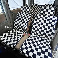 Z-style2トーンスクエアチェックシートカバー全席セット6